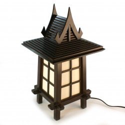 Japanese wooden lamp PUGGI 3 black