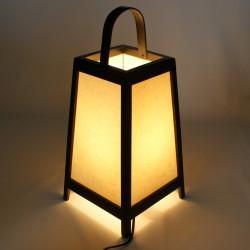 Japanese black table lamp ADIDA