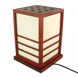 Lampe de table japonaise NIKKO rouge