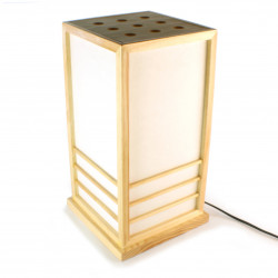 Grande lampe de table japonaise NIKKO couleur naturelle