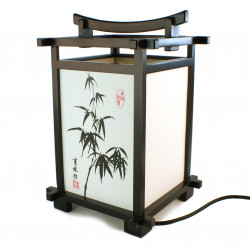 Table lamp black Japanese Bamboo SHINDEN