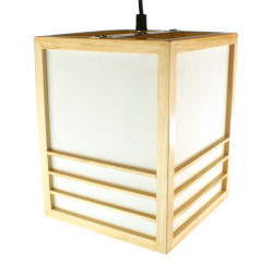 Lampe japonaise plafonier Couleur naturelle KIKKO