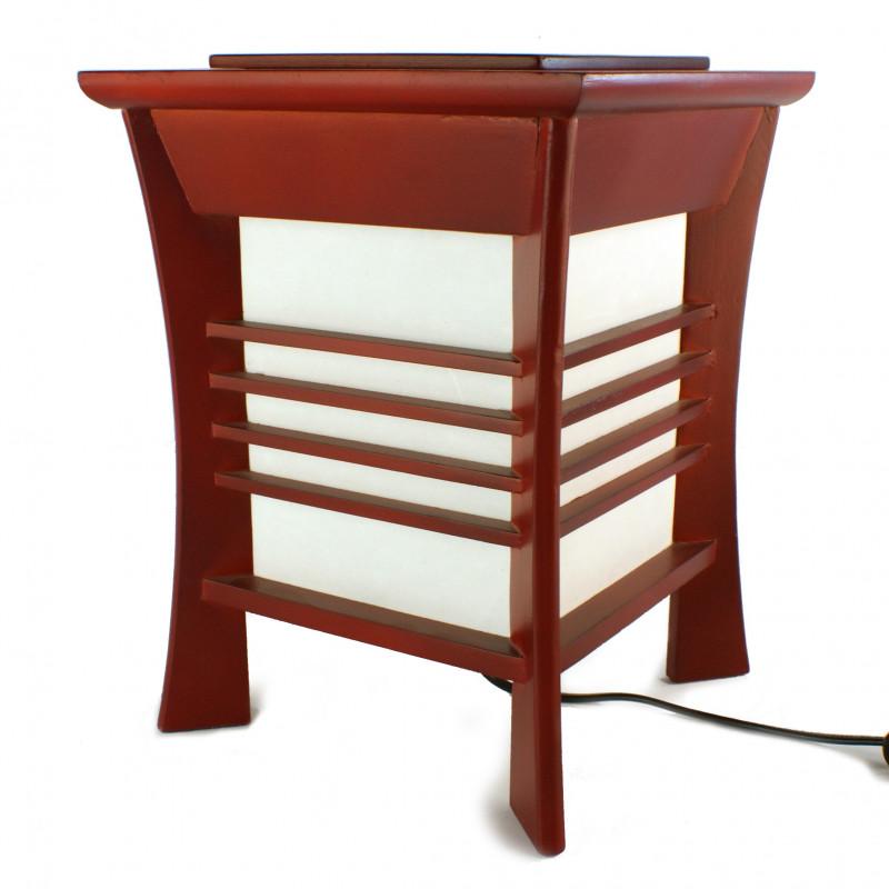 lampe de table japonaise akida rouge. Black Bedroom Furniture Sets. Home Design Ideas