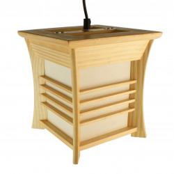 Lampe japonaise plafonier couleur naturelle AKIDA