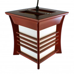 Japanese red ceiling lamp Akida