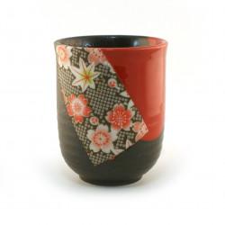 tasse japonaise rouge noire sakura 16M5631237E
