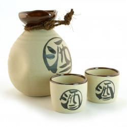service à saké japonais blanc 16M4071610E