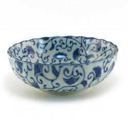 bol japonais bleu gingko AISAI KIKUGATA