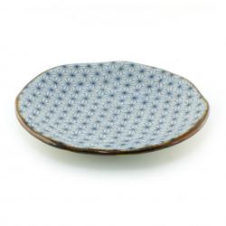 assiette japonaise en céramique ronde 245-6-2E