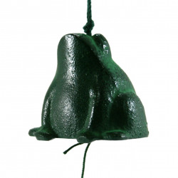japanese wind bell cast iron frog - Kaeru