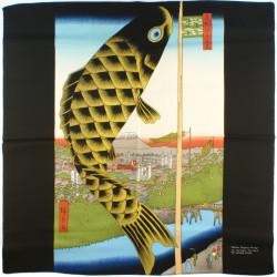 furoshiki japonais - Le pont Suidō et le quartier Surugadai - Hiroshige