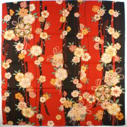 red japanese furoshiki Hanaku Sudama