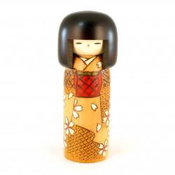 Poupée japonaise KOKESHI en bois. fabriquée au Japon - HARU-NO-IRO