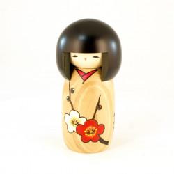 Poupée japonaise KOKESHI en bois HANAMONOGATARI- UME