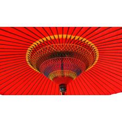 véritable grande ombrelle - parasol japonais rouge