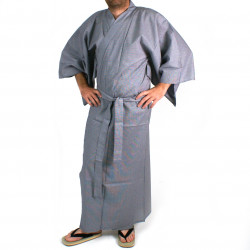 Yukata Japanese blue cotton for man KOGARA