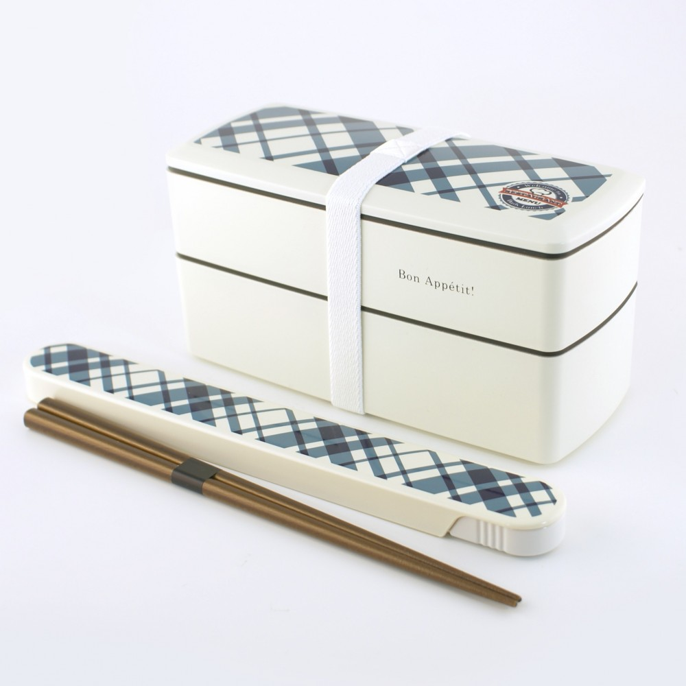 rectangular japanese bento box - lunch box - white