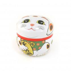 boîte à thé blanc japonaise Manekineko