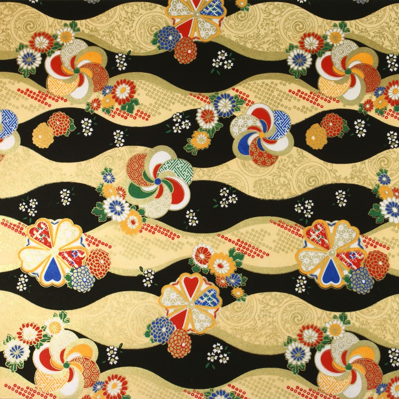 papier japonais Yusen Washi designed By Taniguchi Kyoto Japan 8025