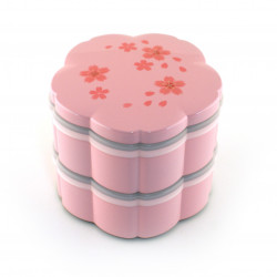 pink japanese bento box - lunch box - sakura