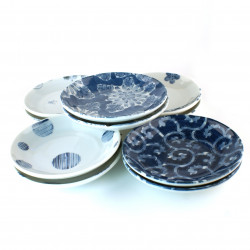 set of 10 Japanese small plates 31849