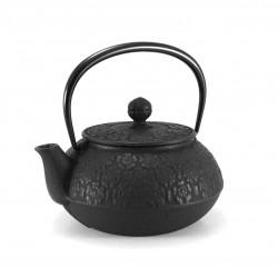Japanese cast iron teapot. IWACHU. SAKURA black. 0.65lt