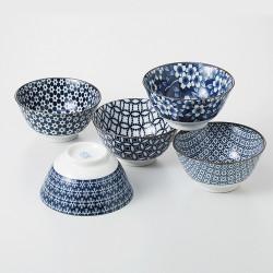 set de 5 bols en céramique japonaise CAW78-56-45