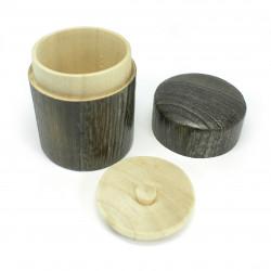 boîte à thé japonaise en bois massif hinoki