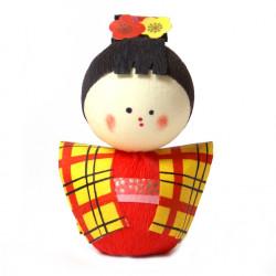 bambola giapponese, fatta di carta - okiagari, KOMACHI, ragazza