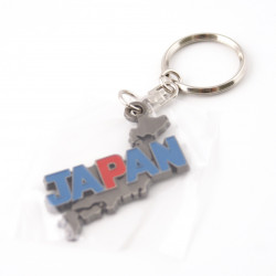 metal keychain, map of Japan