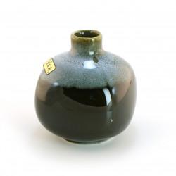 japanese black and blue soliflore vase TENMOKU MINI HANABIN