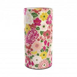 boîte à thé japonaise en papier washi hana rose Nature