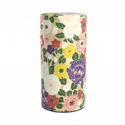 boîte à thé japonaise en papier washi hana violet Nature