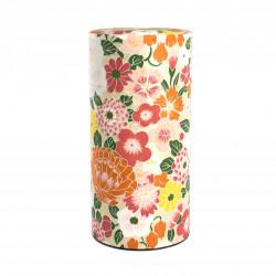 boîte à thé japonaise en papier washi hana orange Nature