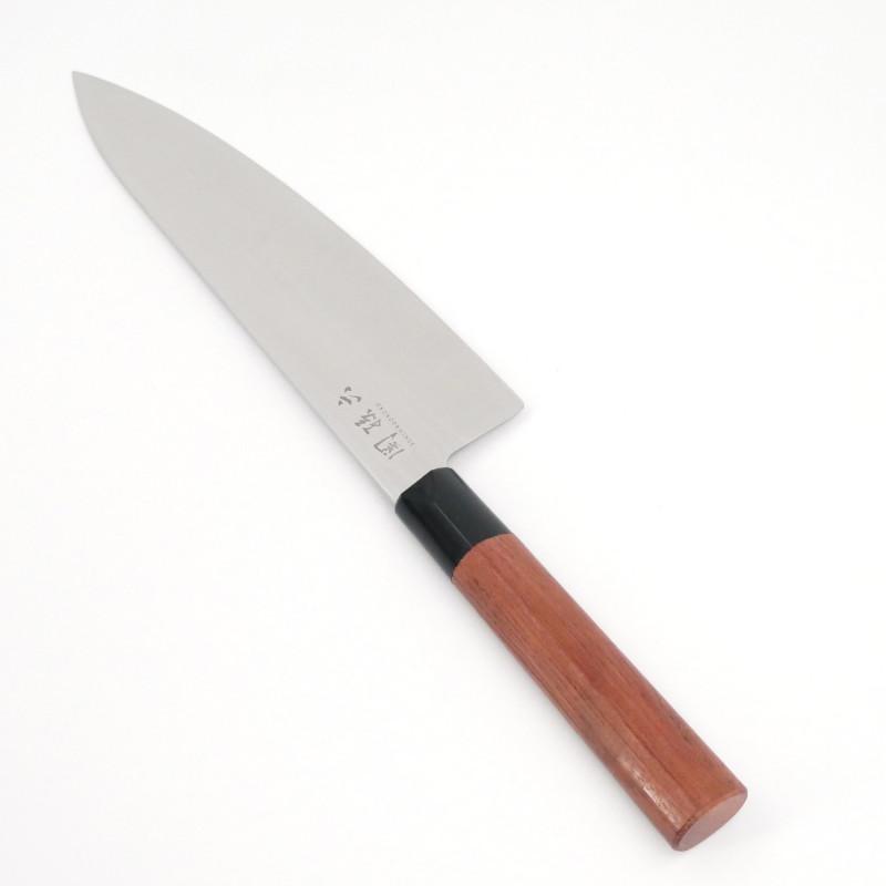 couteau de cuisine 20 cm japonais KAI Seki Magoroku red wood