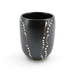 tasse grise japonaise à thé en céramique 4003721B