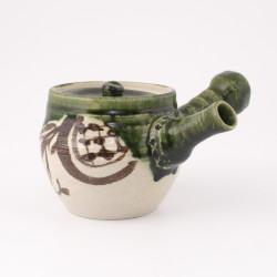théière japonaise Kyusu vert Oribe