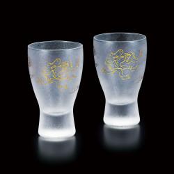 duo de verre japonais Chōjū-jinbutsu-giga