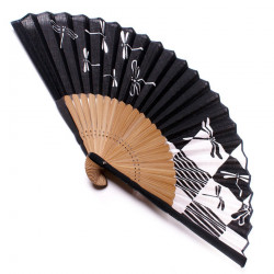 japanese fan bamboo & cotton TOMBO