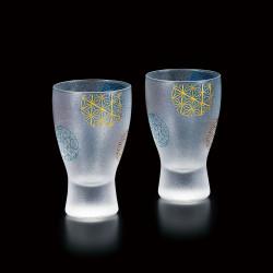 duo of japanese glasses made in Japan - sakura