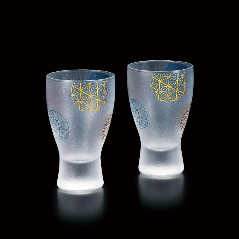 duo de verres à saké japonais - temari