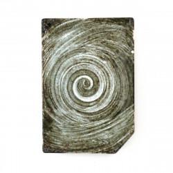 assiette grise japonaise en céramique rectangulaire 17MYA203860E