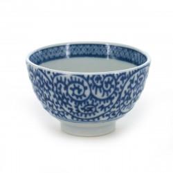 tasse traditionnelle japonaise à thé avec motifs bleus TAKO-KARAKUSA SENCHA