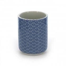 tasse traditionnelle japonaise à thé avec motifs SEIGAIHA