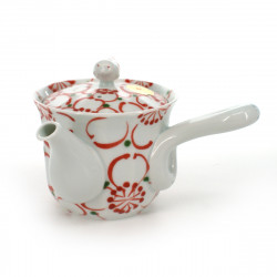 teapot with big red flower patterns white DAIRIN HANA