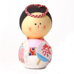 bambola giapponese, fatta di carta - okiagari, OMATSURI, donna