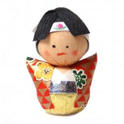 bambola giapponese, fatta di carta - okiagari, WAKAMONO, giovanotto