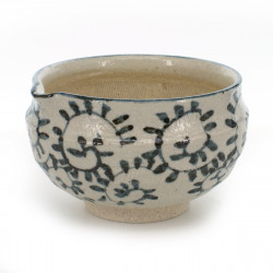 rice bowl with patterns white TAKO-KARAKUSA