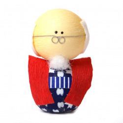 bambola giapponese, fatta di carta - okiagari, SOFUDO, uomo