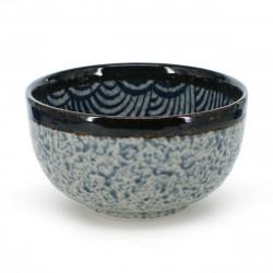 bol traditionnel japonais motifs bleus vague SEIGAIHA